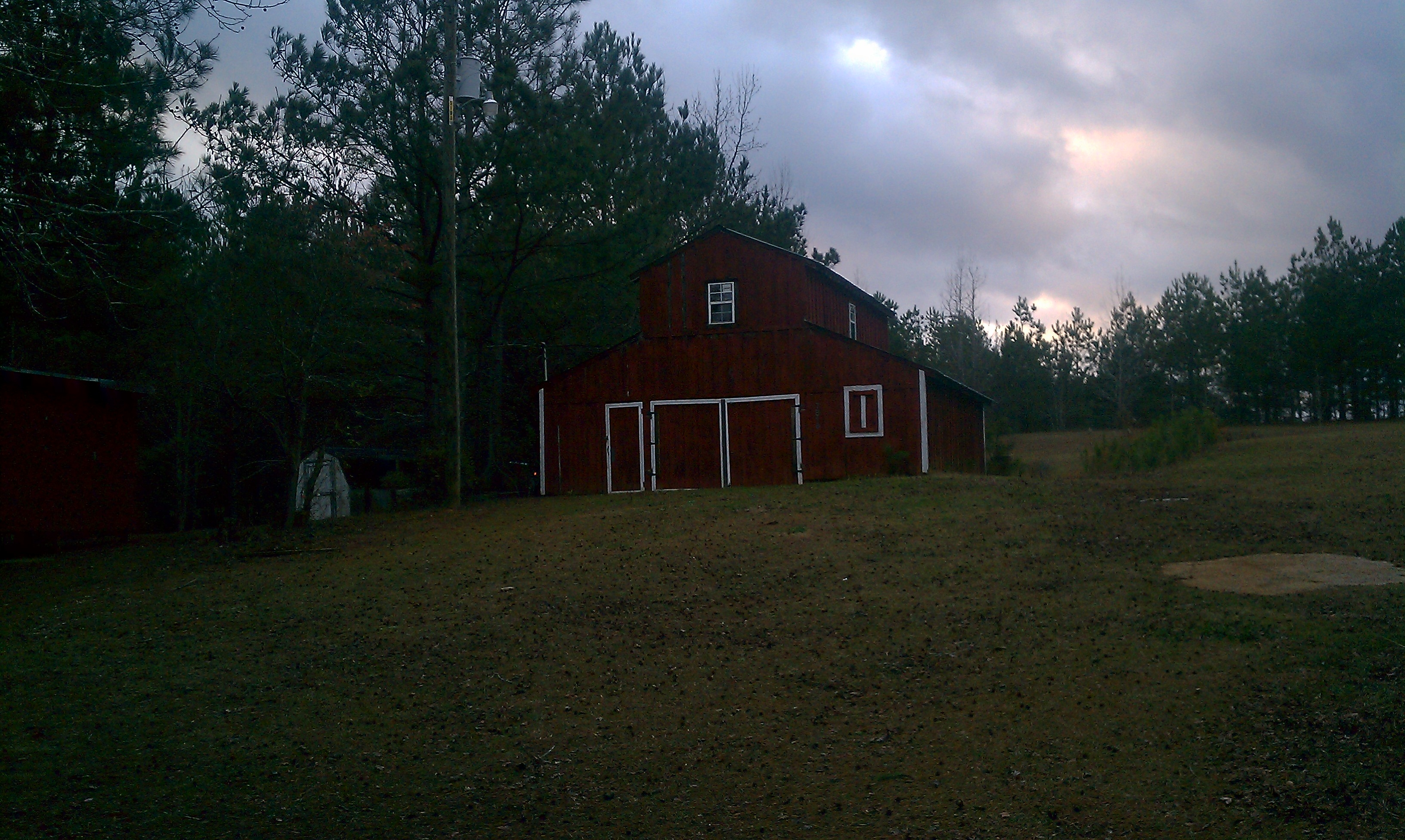 10 Acres And Home Bordering The Talladega National